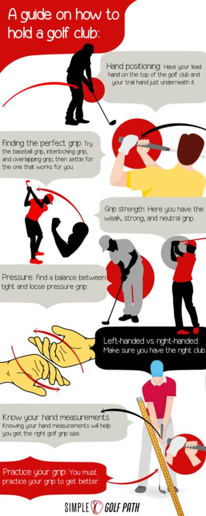 how to hold a golf club correctly infographic