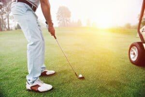 Proper golf stance